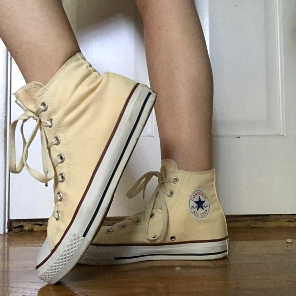 Converse Shoes | Yellow High Tops